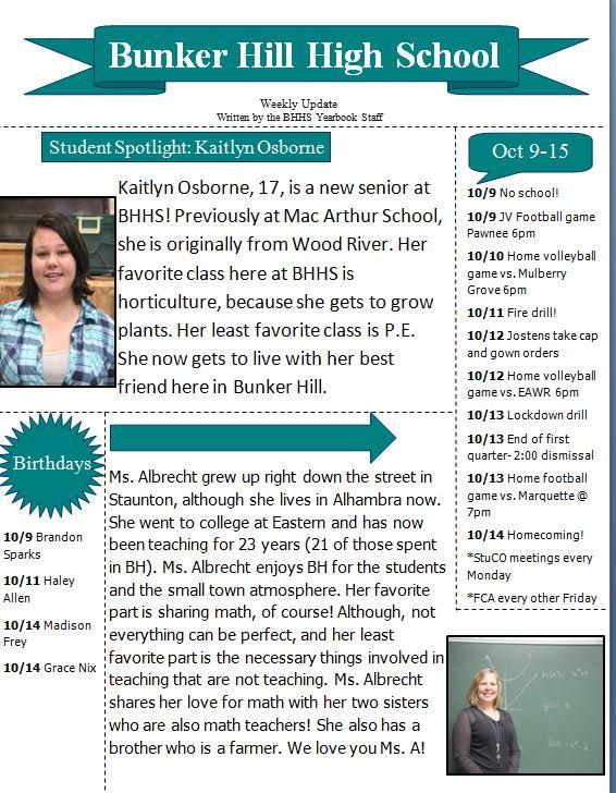 BHHS newletter