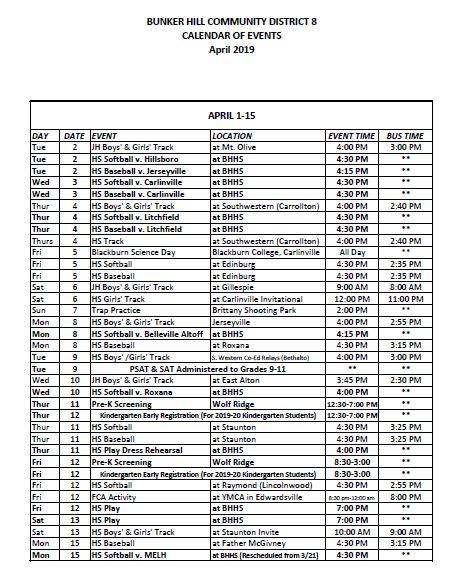April Events 1 15
